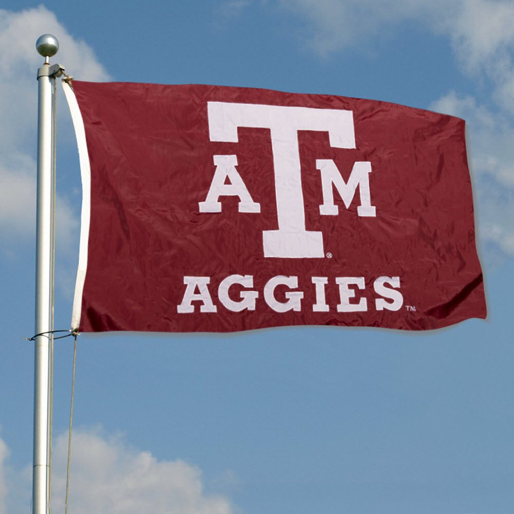 Texas A/&M Aggies Double Sided Nylon Embroidered Flag College Flags and Banners Co