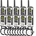 Retevis RT45 Two Way Radios License-Free Walkie Talkies Hand Radios with Covert Acoustic Tube Earpiece Headsets(10 Pack)