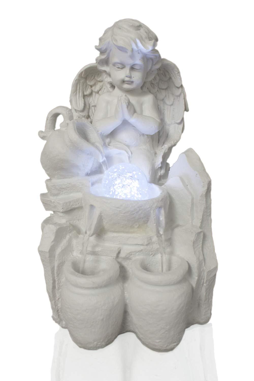 Arnusa Zimmerbrunnen Engel mit Beleuchtung und Kugel Kugel Kugel TP0031 Tischbrunnen Springbrunnen Wasserspiel f7015b