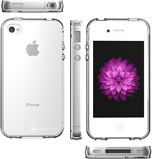 Apple iPhone 4 | 4S Case, Case Army Scratch-Resistant Slim Clear Case for Apple iPhone 4 | 4S | 4G Silicone Crystal Clear Shock-Dispersion Technology ...