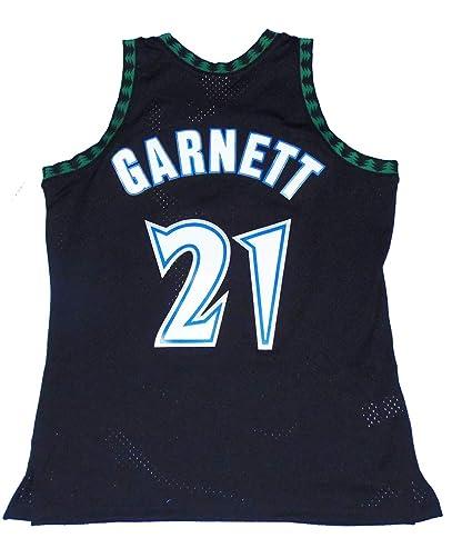 new concept f2937 bd189 Mitchell   Ness Kevin Garnett Minnesota Timberwolves Swingman Throwback  1997-1998 Replica Jersey (Large