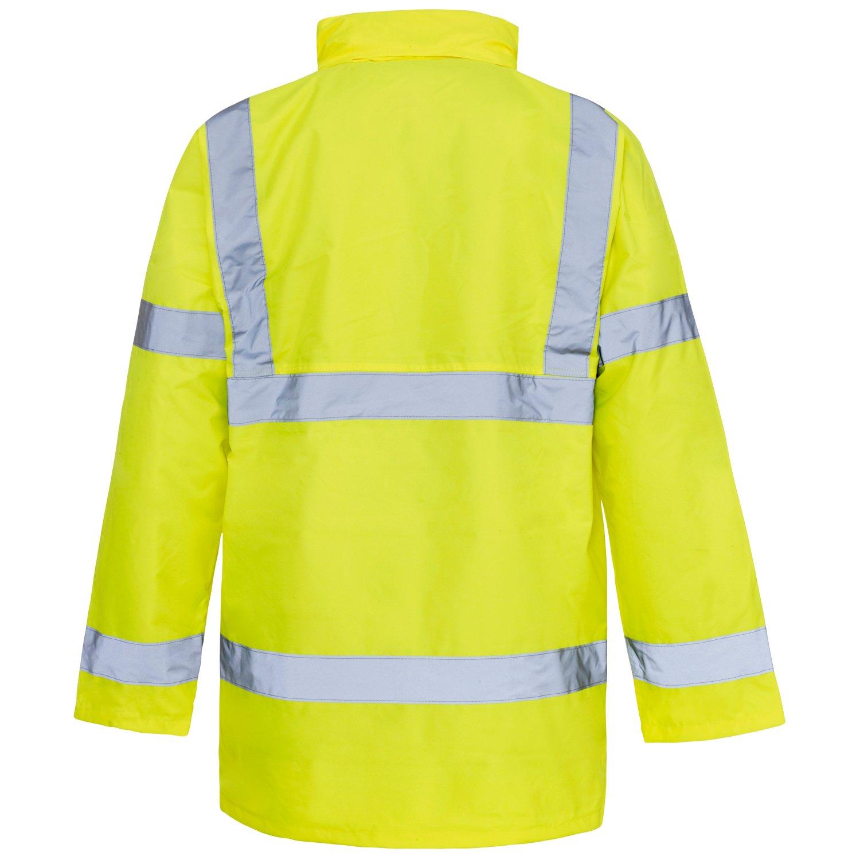 SuperTouch Hi-Visibility Parka Jacket Mens Work Wear Orange GO//RT 3279 Coat Class 3 /& Hivis Yellow S-4XL