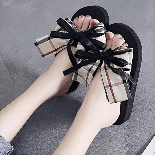 ciabatte esterna scarpe traspirante a toe piscina antiskid pizzico moda ladies YMFIE per di Nuova estate la IT6vv