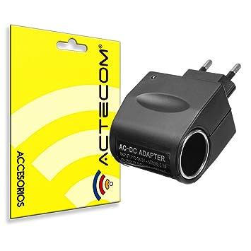 actecom® Enchufe Convertidor AC 220V a DC 12V 0,5A mechero de ...