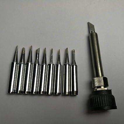 10pcs / set carcasa de soldadura sin plomo punta de hierro de 900M-T de