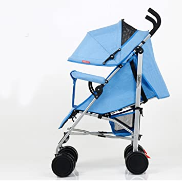Cochecito de bebé Paisaje alto Carro plegable Muy fácil Coche portátil de cuatro ruedas redondo Carro de montaña Highland (Color : Azul) : Amazon.es: Hogar