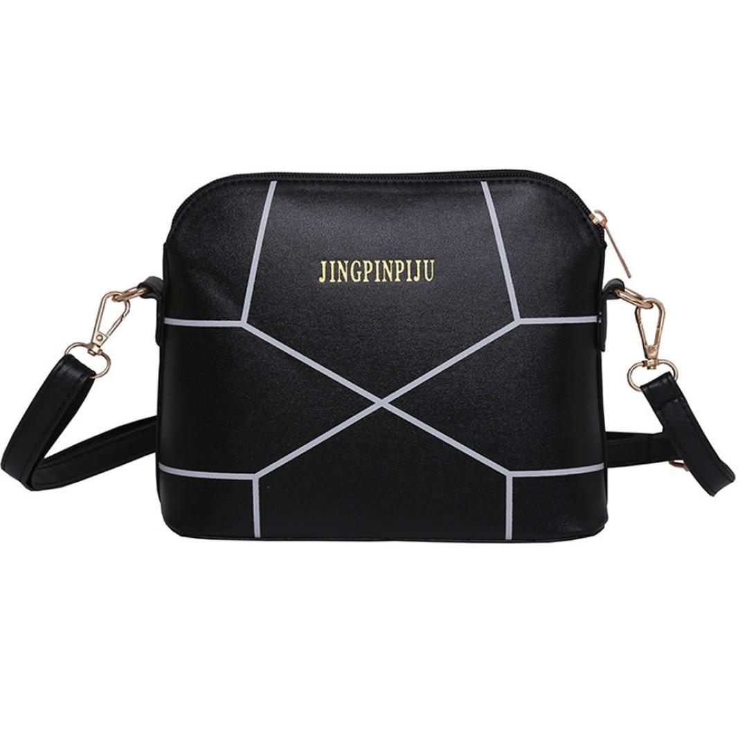 Small Bags For Women,Women Fashion Handbag Crack Shoulder Bag Large Tote Ladies Purse Leather Shoulder Bags Satchel Messenger Bag Duseedik Clearance (Black)