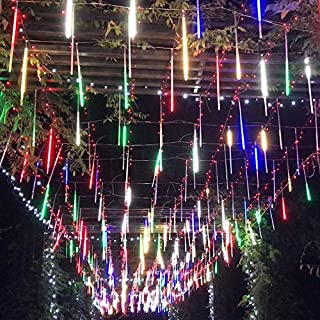 surlight falling rain lights meteor shower lights rain drop lights christmas lights 30cm 8 tube 144