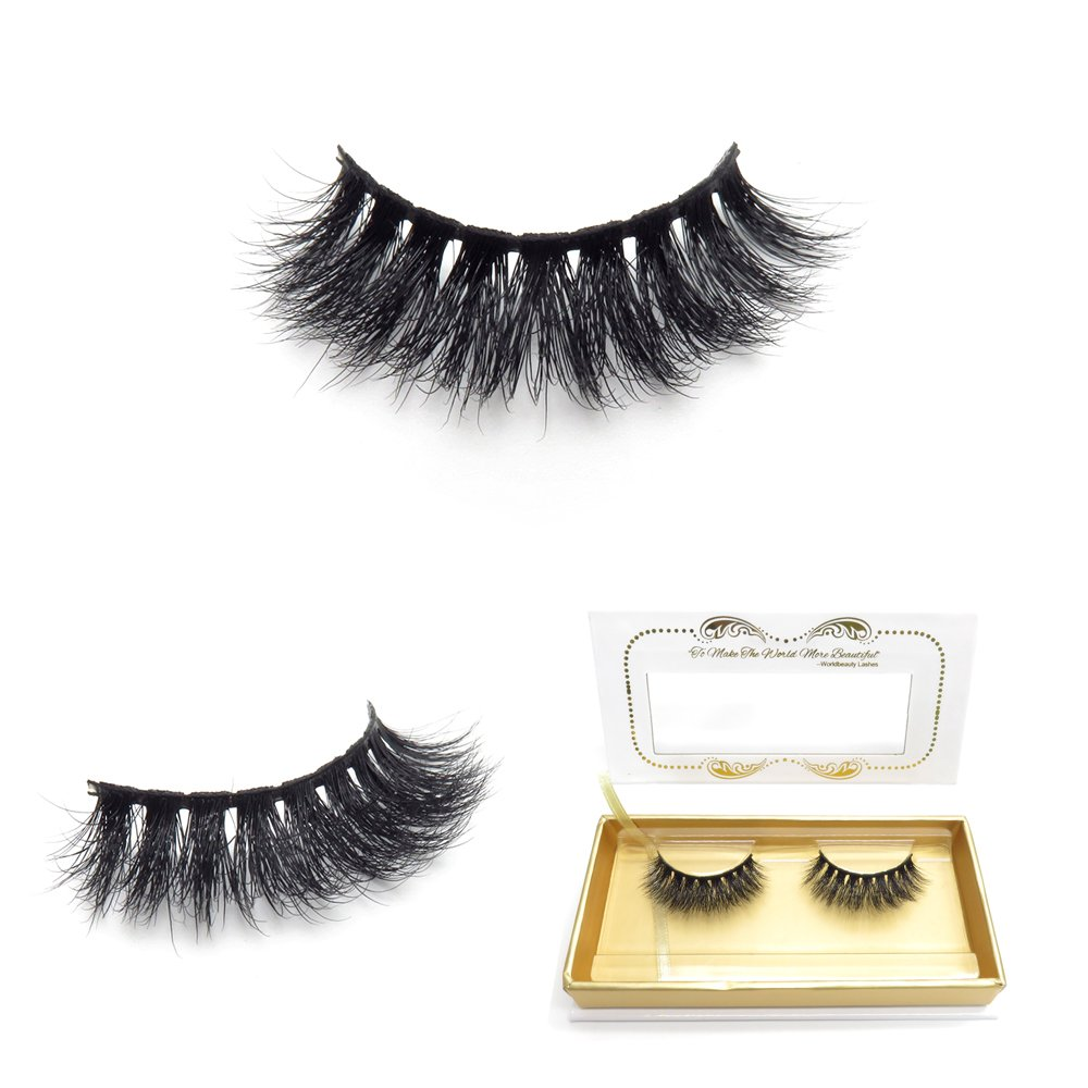 c3d575391b1 100% Siberian 3D Mink Fur False Lashes HandMade Wispy Natural Thick  Reusable Mink Fake Eyelashes