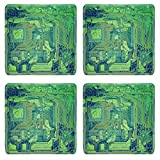 MSD Square Coasters Image ID 27264430 Vintage looking Detail of an electronic printed circuit board