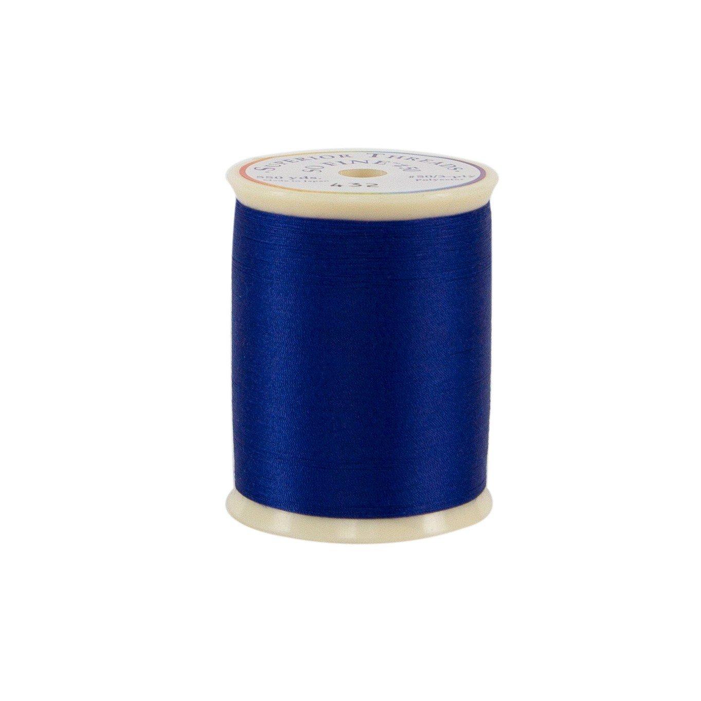 550 yd Superior Threads 11601A-434 So Fine Misty Blue 3-Ply 50W Polyester Thread