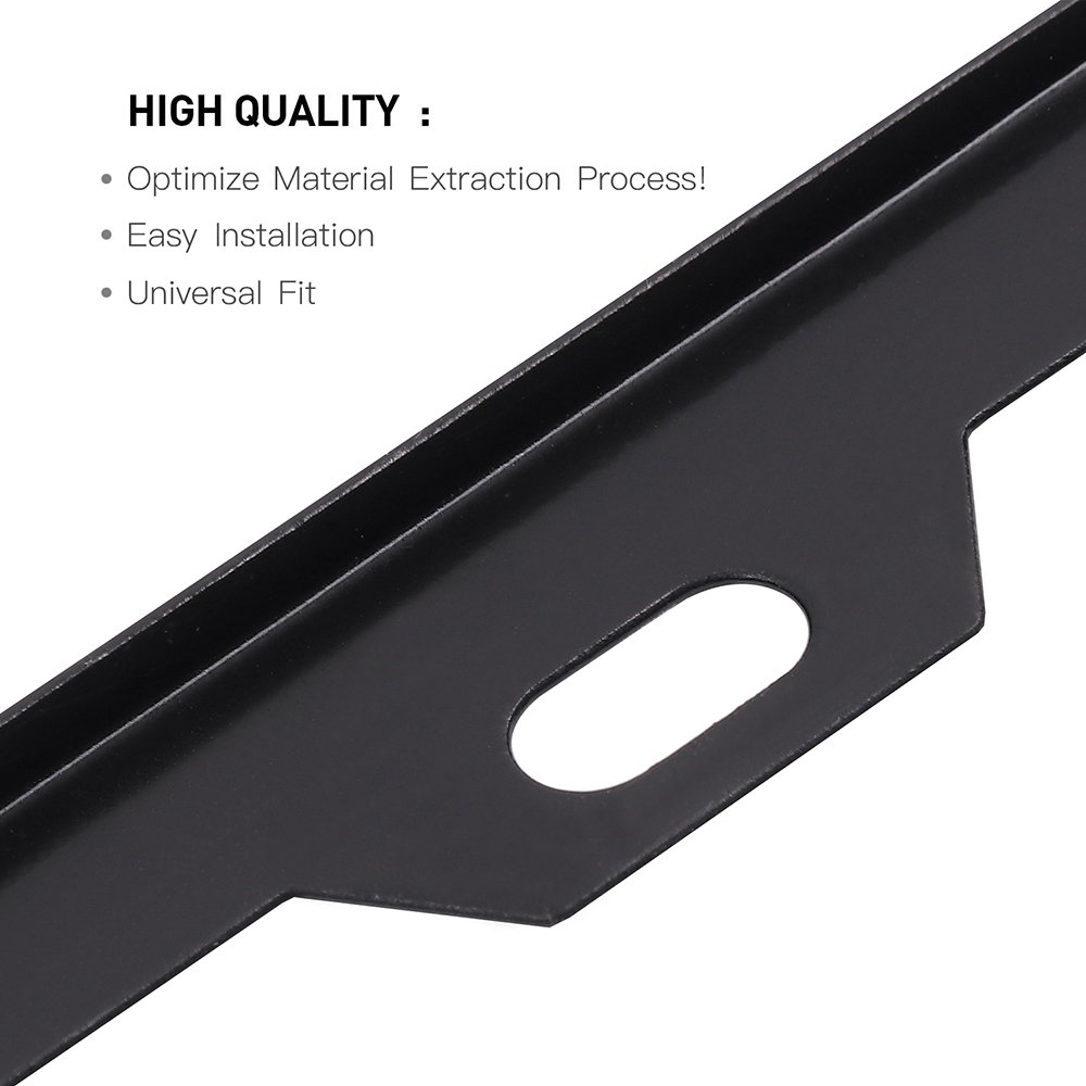 SCITOO Stainless Steel License Plate Frame Black Car Licence Plate Covers 2 PCS 2 Holes Bolts Washer Caps fit US Standard 122441-5206-1424451362