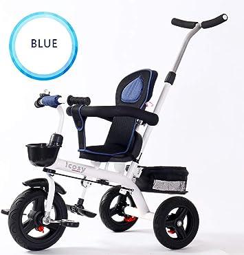 HJFGIRL Triciclo Plegable, Triciclos Bebes 1 Año Evolutivo Bicicletas de Acero de Alto Carbono Neumático de PU Carga 40kg Adaptar a Parques, Playas, Viajes,1: Amazon.es: Deportes y aire libre