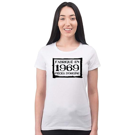 Bang Tidy Clothing T Shirt Femme Anniversaire 50 Ans Pièces Dorigine Fabriquée En 1969