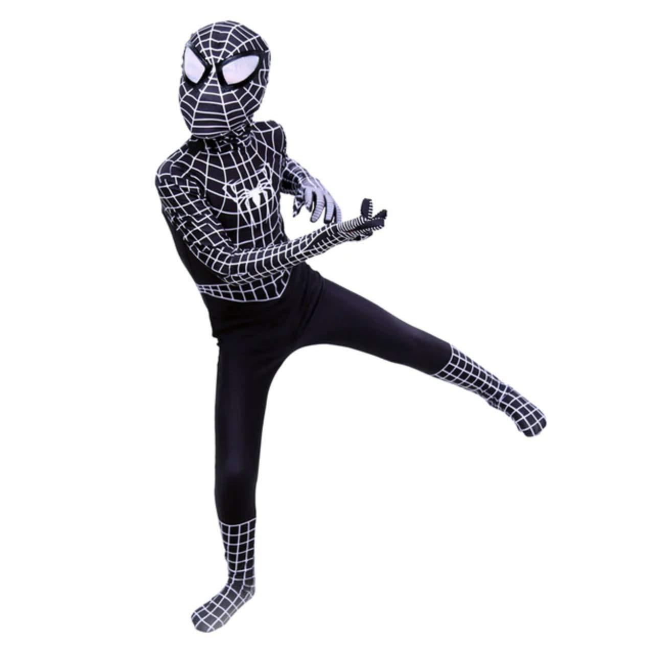 FYBR Costume de Spider-Man Superskin pour Enfant Unisexe Gar/çons et Filles Combinaison Cosplay Animal Zentai V/êtements Halloween Lycra Spandex