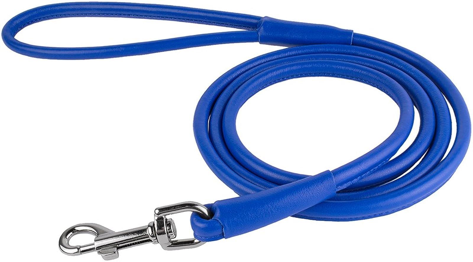 CollarDirect Rolled Leather Dog Leash 4ft Soft - 6