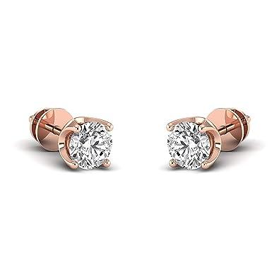 14K white-gold Earring Studs 0.3 to 4 Carat Moissanite Stud Earrings Stud Earrings for Women perfect Jewelry Gifts for Women Teen Girls Round Brilliant GH//VVS
