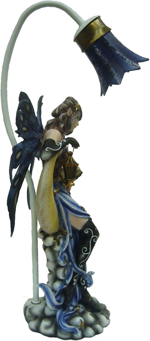 50 cm Statue ou Statuette F/ée Lampe sur lune Hauteur : env Livraison Gratuite