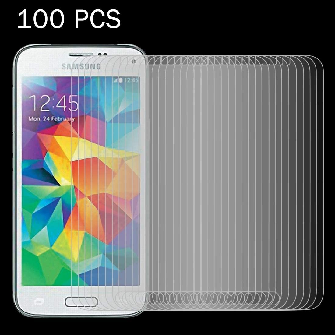 JIN PhoneGlassFilm 100 PCS for Galaxy S5 Mini G800 0.26mm 9H Surface Hardness 2.5D Explosion-Proof Tempered Glass Screen Film