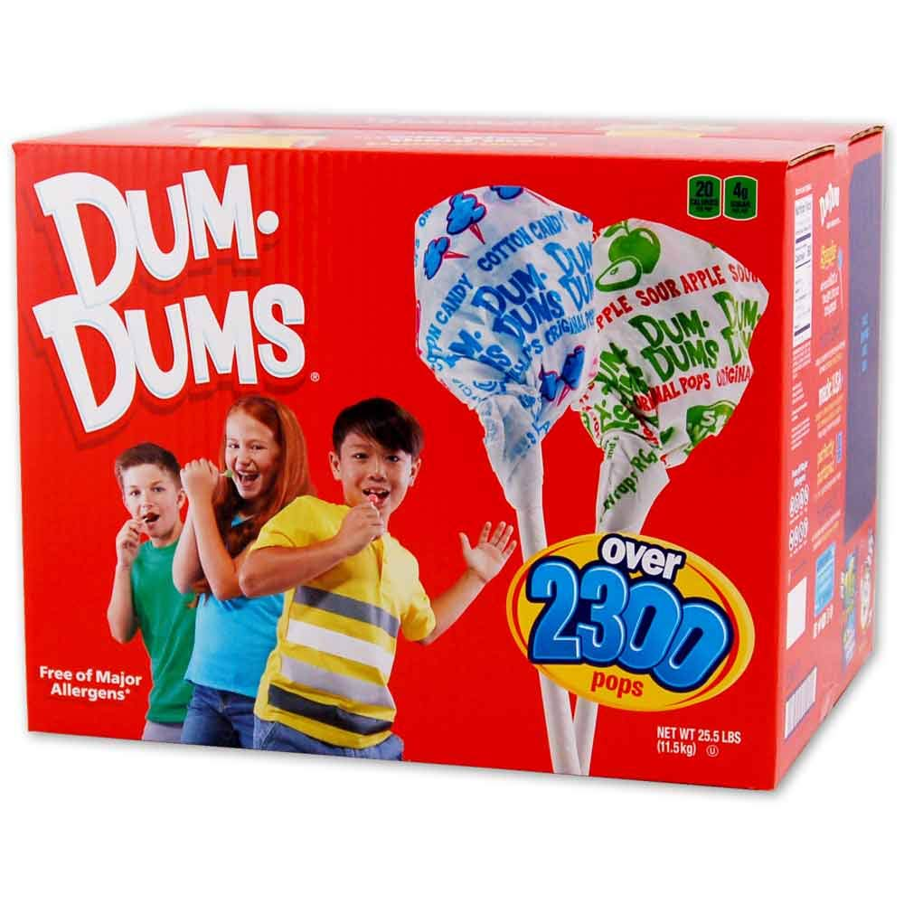 Dum Dums 30 lb bulk Red Box by Dum Dums