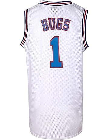 0c76920ff2e JOLI SPORT Bugs 1 Space Men s Movie Jersey Basketball Jersey S-XXXL White (M
