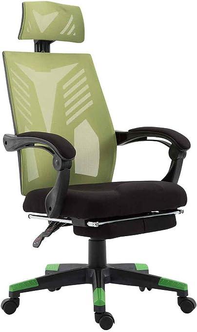 Fauteuil de Bureau Ergonomique Smart Assise Rembourré Revêtement et Dossier en Maille Chaise de Bureau à Roulette avec Accoudoirs et Re,