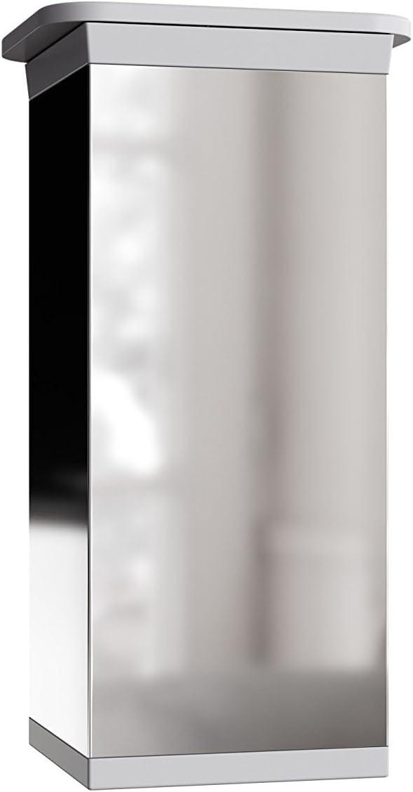 Forme angulaire: 40 x 40 mm Design: Chrom/é lot de 4 Mat/ériel : 100/% aluminium Sossai/® MFV1-CH060-4 r/églables Hauteur : 60mm +//- 20mm Pieds de meubles Vis inclus
