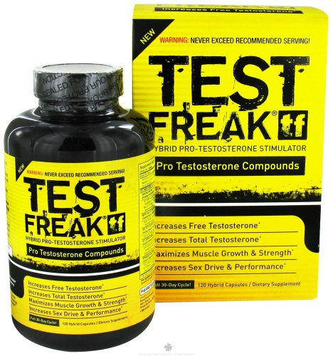 PharmaFreak Technologies - Test Freak Hybrid Pro-Testosterone Stimulator - 120 Capsules