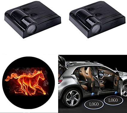 Proyector de luces LED para puerta de coche, 2 unidades, universal ...