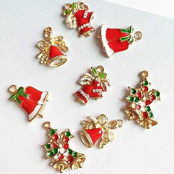 16Pcs//Set Enamel Alloy Christmas series small Charm Pendant Ornament accessory