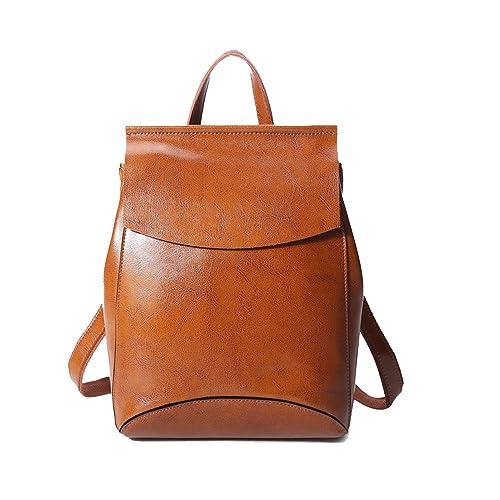 be35c2065a182 Anne - Bolso mochila de Piel para mujer negro Yellowish  Amazon.es  Zapatos  y complementos