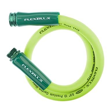 Flexzilla HFZG505YW 5/8 in. x 5 ft Garden Lead-in Hose, 5' (feet), ZillaGreen