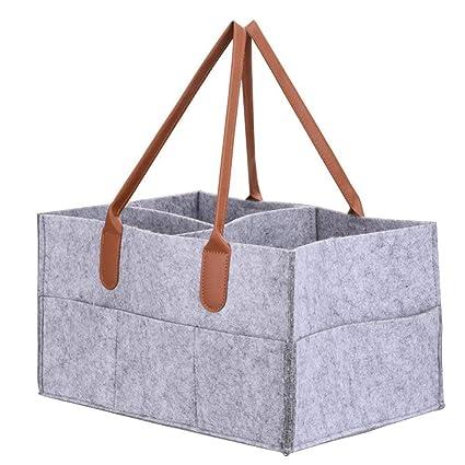 Organizador de pañales Sdreamland, organizador de pañales, cesta ...