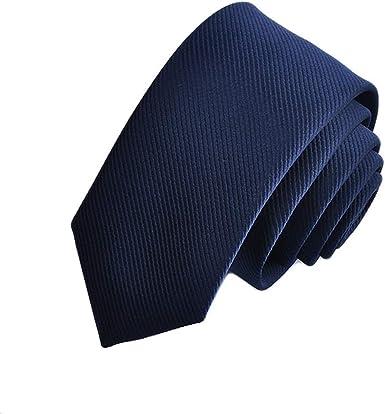 Addmluck Corbata clásica de satén color puro a rayas, corbatas ...