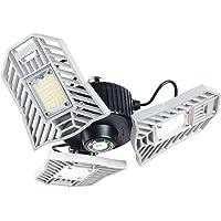 LED Garage Lights, 60W 6000 Lumens Garage Lights Deformable LED Garage Ceiling Lights with 3 Adjustable Panels, E27…