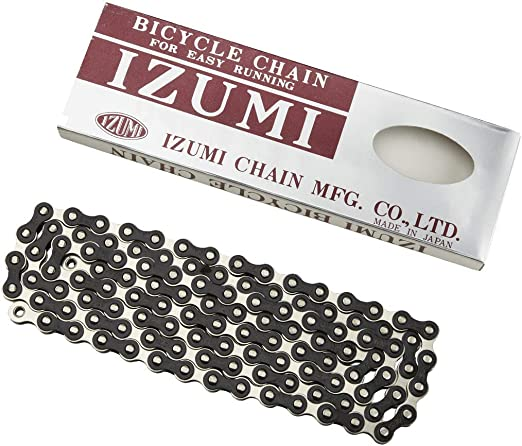 2 X 116 Links Silver New Izumi Bicycle Cycle Bike Standard Chain 1 Black