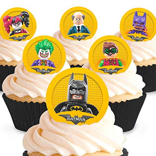 Cakeshop 12 x PRE-CUT The Lego Batman Movie Edible Cake Toppers ()