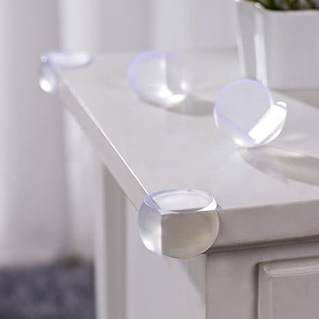 aushen protège-coins Soft Safety protège-bords de bebé protectores de esquinas para mesas muebles y esquinas Pointus Transparence Talla:3 * 3 * 3 CM: ...