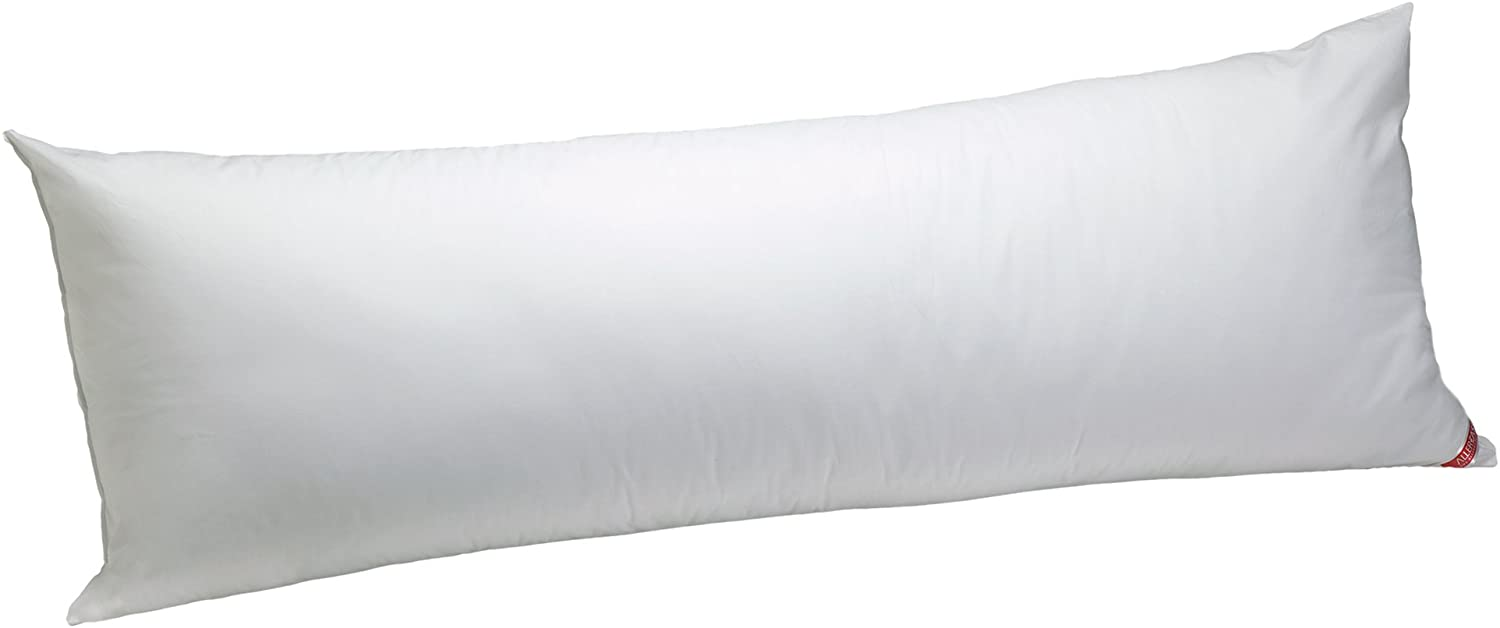 """AllerEase 100% Cotton Allergy Protection Medium Density Body Pillow - Breathable, Hypoallergenic Fiber Fill, Prevents Buildup of Dust Mites and Household Allergens, Allergist Recommended, 20"""" x 54"""": Home & Kitchen"""