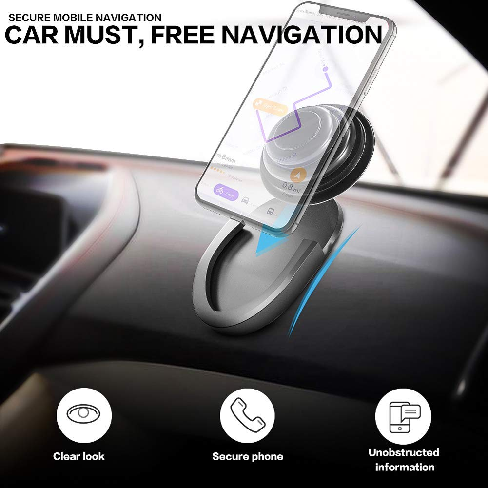 360/° Rotation Air Vent Pops Out Stand Car Mount Compatible with GPS Navigation or Any Phone with Pops Grips Lorima ZLS Car Mount for Pops Users