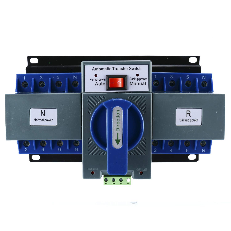 Yaegoo Mini Dual Power Automatic Transfer Switches Self cast Conversion 50/60HZ AC-33iB AC 400V 63A 4P ATS CB Level M6 by Yaegoo