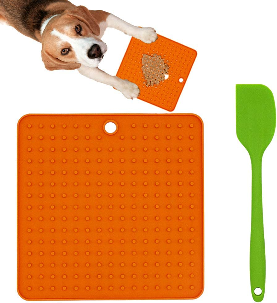 Ley's Dog Lick Mat, (1/2 Pack) Peanut Butter Lick Pad for Dogs & Cats, Pet Boredom Buster Slow Feeders, Calming Mat for Anxiety Relief, Perfect for Pet Food, Yogurt or Pumpkin Sauce