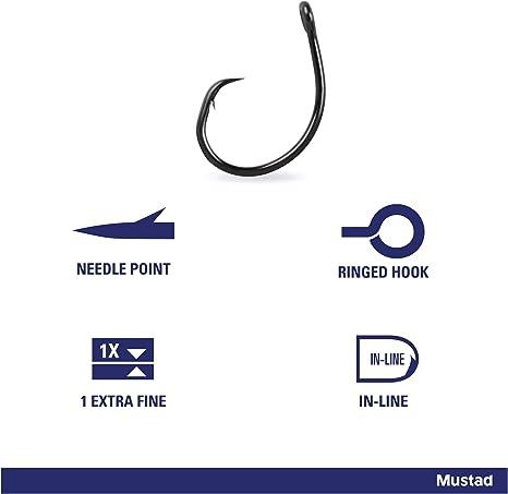 100 MUSTAD 7//0 BIG GAME Squid Carlisle Hooks OPEN LARGE RING X STRONG 3189 C
