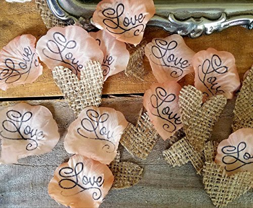 Country wedding centerpieces amazon rustic wedding decor burlap confetti table confetti for wedding bridal or baby shower by burlap and bling design studio junglespirit Gallery
