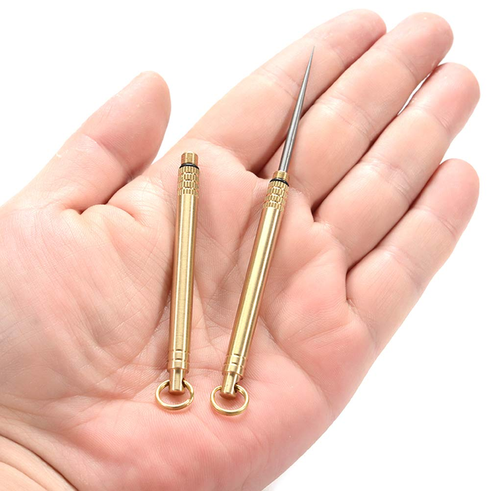 1 Set Titanium Alloy Outdoor EDC Tools Toothpick Holder Ear Pick Container Lightweight Portable Camping Tools