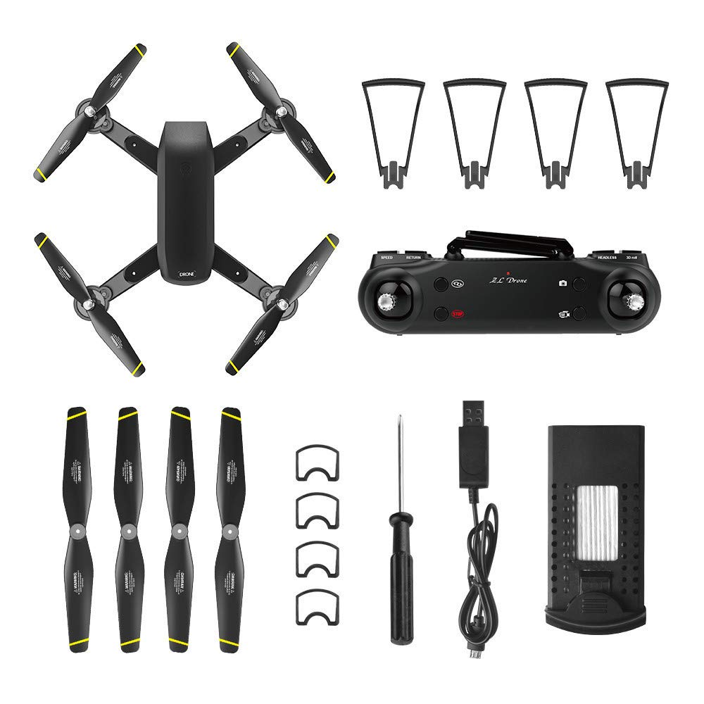 LikeroNew SG700-D 2.4Ghz 4CH Wide-Angle WiFi 4K HD Dual Camera Optical Flow RC Quadcopter Drone Hover,Beginners -Controlled Through The Mobile Phone App -One-Key Start&one-Key Landing (Black) by Likero (Image #3)