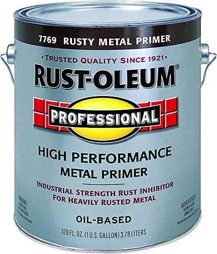 RUST-OLEUM 7769-402 Professional Gallon Rusty Metal Primer (Best Metal Primer For Rusty Metal)
