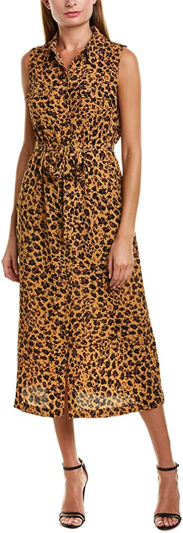 Donna Morgan Women's Sleeveless Bubble Crepe Shirt Dress