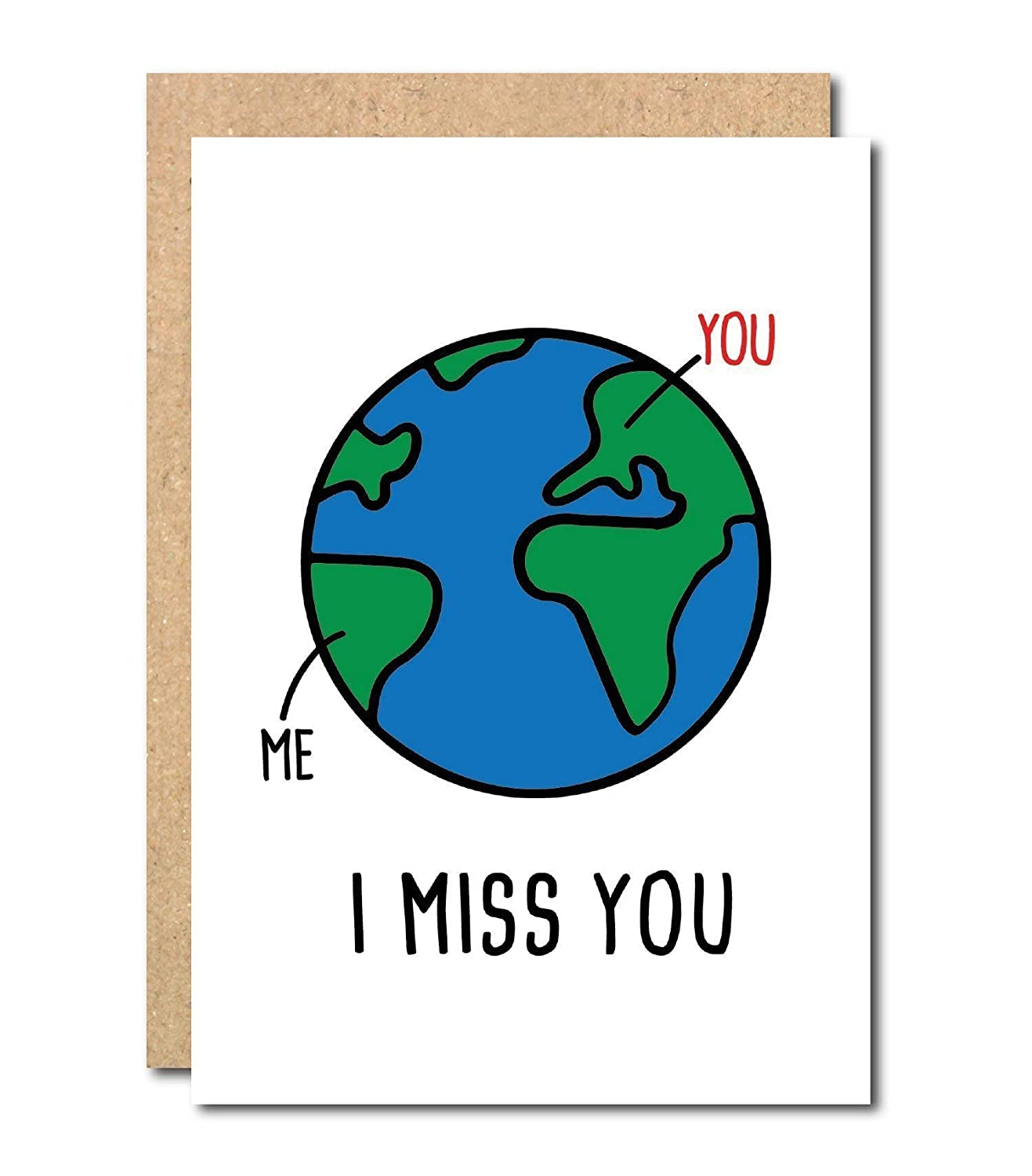 Funny I miss you Greeting Card Long distance For boyfriend Girlfriend