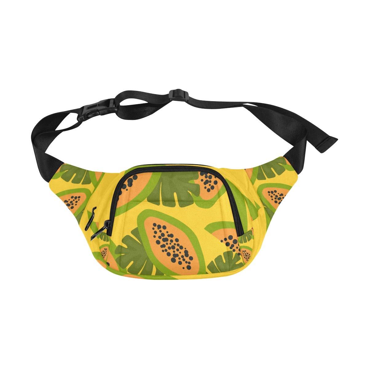 Tropical Plant Sketch Style Fenny Packs Waist Bags Adjustable Belt Waterproof Nylon Travel Running Sport Vacation Party For Men Women Boys Girls Kids